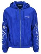 Givenchy Printed Windbreaker - Blue/white