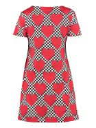 Love Moschino Patterned Cotton Dress - red
