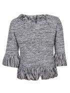Charlott Fit Knitted Top - Bianco Nero