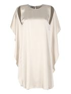 Stella McCartney Crêpe Envers Satin Dress - Sand