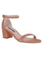 Stuart Weitzman Simple Buckled Sandals - Desert Rose
