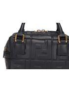 Fendi Mini Boston Ff Bauletto Bag - Black