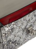 Valentino Garavani Mini Rockstud Glitter Bag - Argento