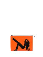 Calvin Klein Jeans Brooke Shields Leather Pouch - Arancione