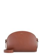 A.P.C. Leather Crossbody Bag - brown