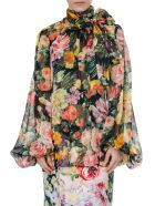 Dolce & Gabbana Multicolor Silk Flower Blouse - Multicolor