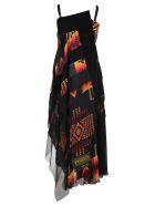 Sacai Sacai Pendleton Maxi Dress - BLACK + MULTI