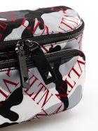Valentino Garavani Printed Logo Camo Belt Bag - H D.grey/red
