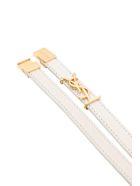 Saint Laurent Opyum Double Loop Bracelet In Vintage Lambskin - Bianco