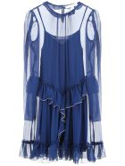 See by Chloé Ruffled Dress - BLUE (Blue)