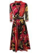 Samantha Sung Printed Dress - Rasperry