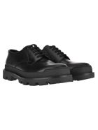Prada Lace-up Leather Shoes - BLACK
