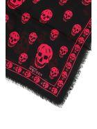 Alexander McQueen Full Skull Scarf - BLACK PINK (Black)