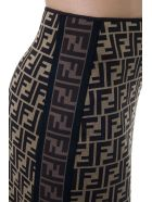 Fendi Straight Cotton Logo Skirt - Dark brown