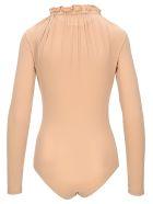 MM6 Maison Margiela Mm6 Ruffled Neck Bodysuit - NUDE