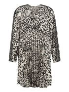 RED Valentino Printed Pleated Dress - Multicolor