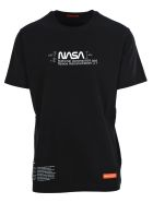 HERON PRESTON Nasa Manual Print T-shirt - BLACK/WHITE