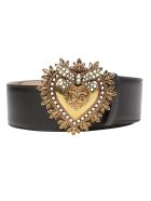 Dolce & Gabbana Devotion Belt - Cuore nero