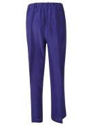 Aspesi Wide Cropped Trousers - Purple