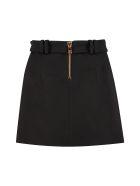 Balmain Wool Mini Skirt - black