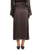 Nanushka Amas Washed Satin Midi Skirt - Marrone