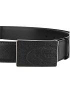 Prada Saffiano Leather Belt - BLACK