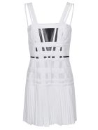 Giovanni Bedin Tulle Tank Strap Mini Dress - White