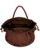 Stella McCartney Perforated Front Logo Bag - Saddle Brown