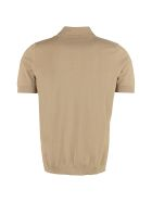 Drumohr Knitted Cotton Polo Shirt - brown