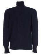 Drumohr Sweater Turtle Neck Geelong - Blu