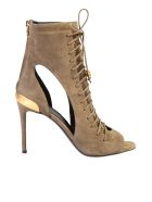 Balmain Lace-up Sandals - Brown