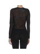 MM6 Maison Margiela Top Sweater - Black