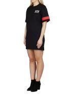 GCDS Black Cotton T-shirt Dress - Black