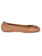 Tory Burch Minnie Travel Logo Ballerinas - Royal Tan Gold