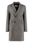 Jucca Wool Pied-de-poul Coat - Nero