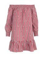 Michael Kors Sailor Knot Bar Shoulder Dress - Rosso