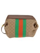Gucci Gucci Mini Gg Bag With Web And Butterfly - BEIGE EBONY