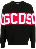 GCDS Black Cotton Blend Jumper - Nero