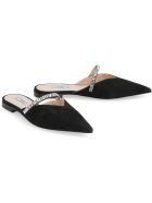 Prada Suede Pointy-toe Mules - black