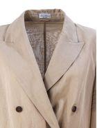 Brunello Cucinelli Cotton Organza Blazer - Beige