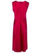 Diane Von Furstenberg Sleeveless Gathered Dress - Red