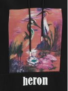 HERON PRESTON Raglan Aironi Sweatshirt - BLACK MULTICOLOR