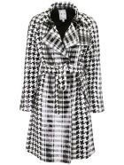 In The Mood For Love Sequins Lily Trench Coat - BLACKWHITE (White)