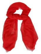 M Missoni M Missoni Embroidered Scarf - Red