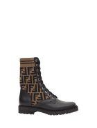 Fendi Ff Biker Boots - Nero