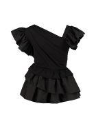 Alexander McQueen Ruffled Cotton Blouse - black
