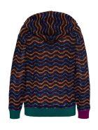 M Missoni Multicolor Hooded Sweatshirt In Wool Blend - Black