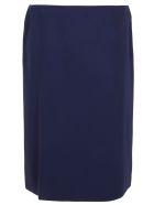 Ralph Lauren Black Label Cindy-straight Skirt - Navy Crepe