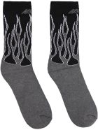 MSGM Intarsia Cotton Socks - grey