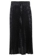 RED Valentino Skirt Lurex Jacquard Trousers - Blue